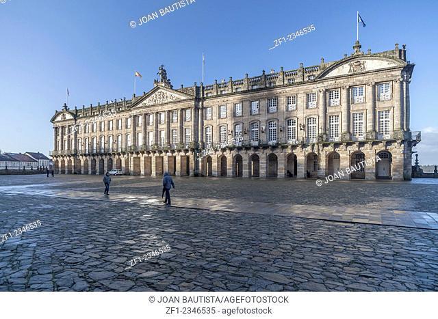 Santiago de Compostela. Pazo or palace of Raxoi