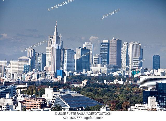 Japan-Tokyo City-Shinjuku District Skyline from Akasaka