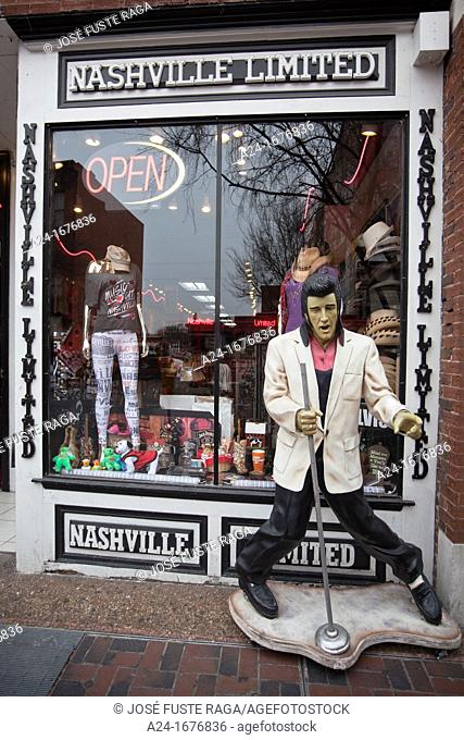 USA, Tennessee , Nashville City, Souvenirs shop