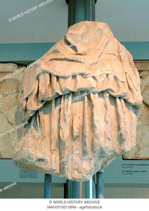 Peplos figure of Hera from the East pediment of the Parthenon, housed in the New Acropolis Museum, Athens