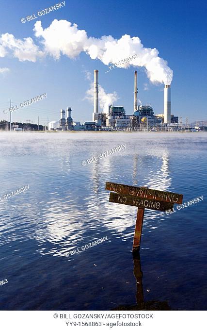 Power Plant on Lake Julian - Asheville, North Carolina USA