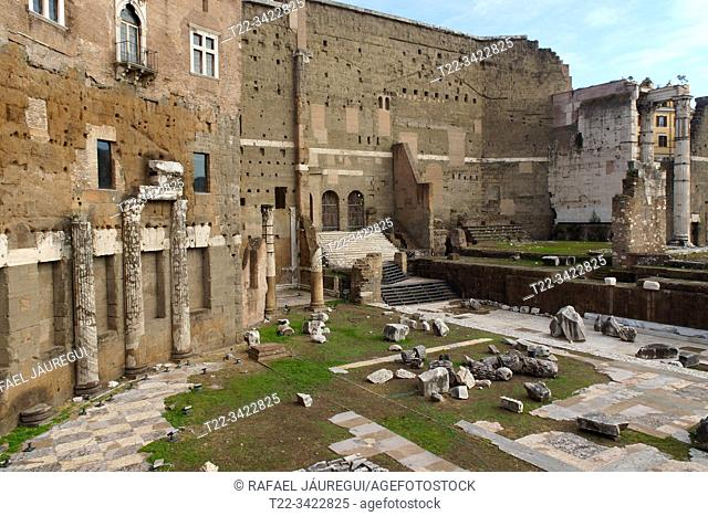 Rome (Italy). Interior of the Trajan Forum in the city of Rome