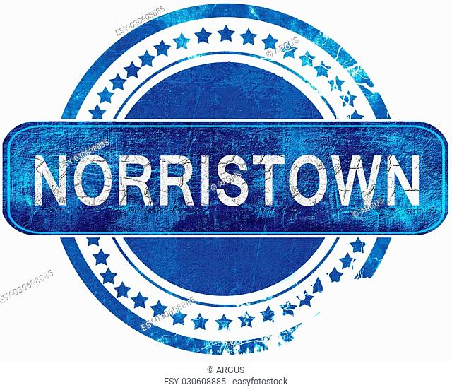 norristown stamp, isolated on a solid white background