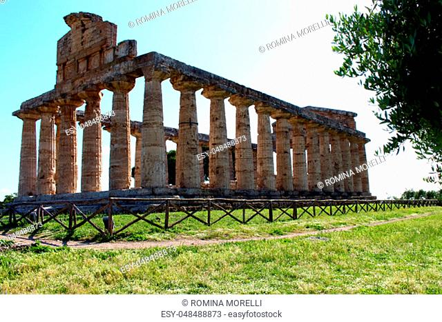 Temple of Athena in the Archaeological Park of Paestum