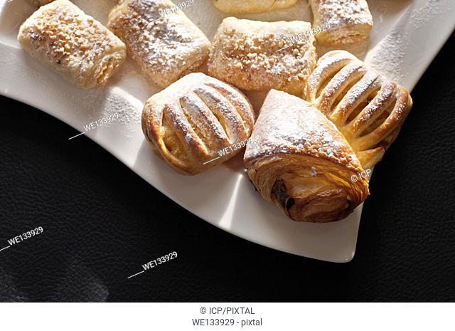 Danish Pastries on a white plate