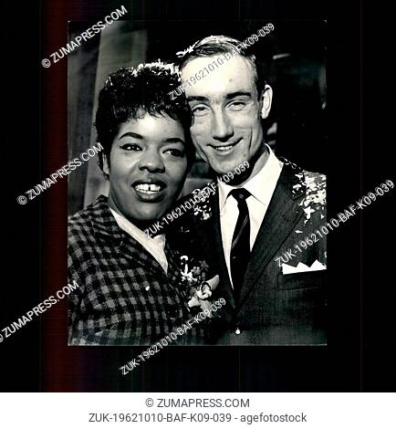 Oct. 10, 1962 - London Clubland wedding: American blues singer Joy Marshall was married at the Marylebone Registry Office today to jazz trumpeter Peter King
