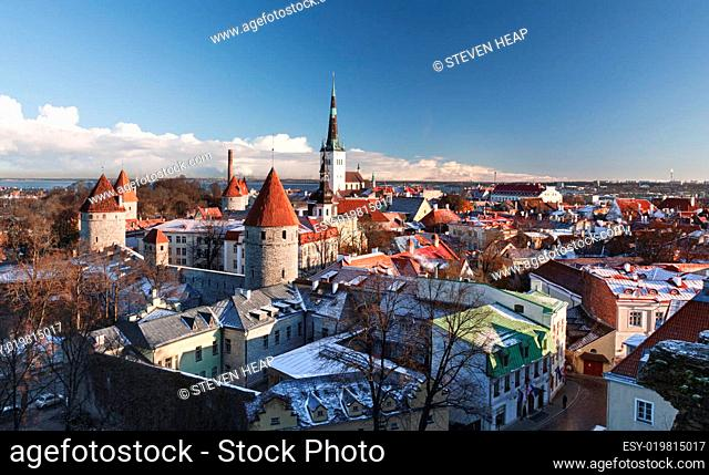Views of the Old Town of Tallinn in Estonia