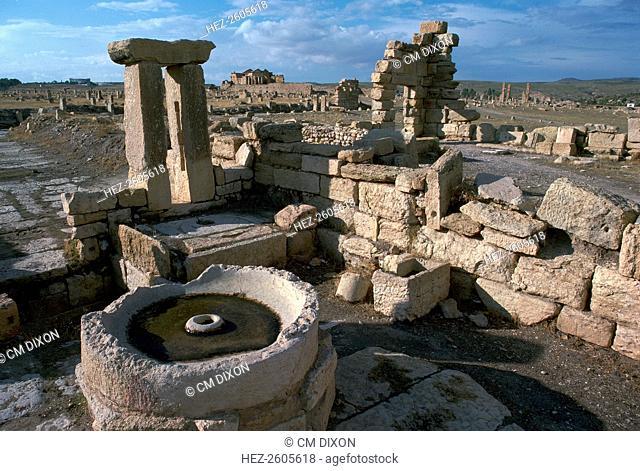 Roman olive presses in the city of Sufetula