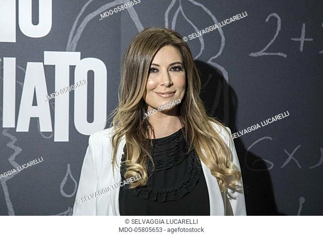The italian writer and presenter Selvaggia Lucarelli at the photocall of the film Tonno Spiaggiato, directed by Matteo Martinez with Frank Matano at the Cinema...