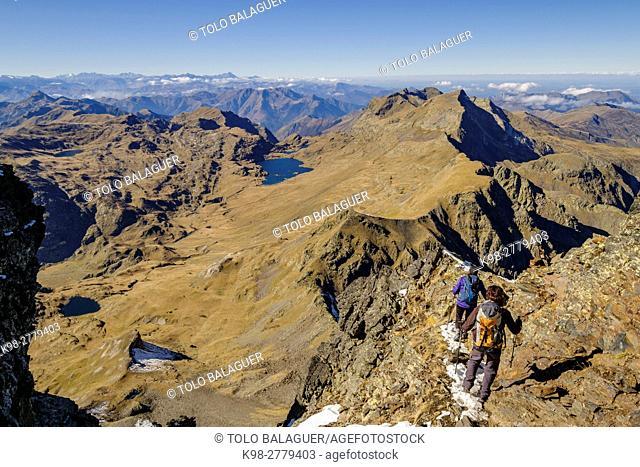 Tuc de Mauberme, 2880 meters, Aran , Lleida province, Pyrenean mountain range, Catalonia , Spain