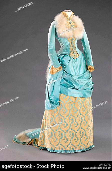 Evening dress. Department Store: R. H. White & Co. (American, Boston, Massachusetts); Date: 1885; Culture: American; Medium: silk