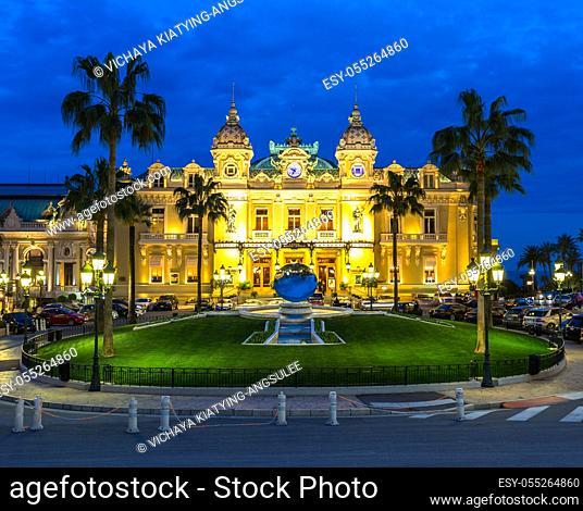 The Monte Carlo Casino, gambling and entertainment complex in Monte Carlo, Monaco, Cote de Azul, Europe