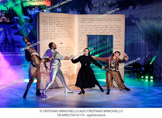 Sister Cristina during the performance at the tv show Ballando con le stelle (Dancing with the stars) Rome, ITALY-27-04-2019