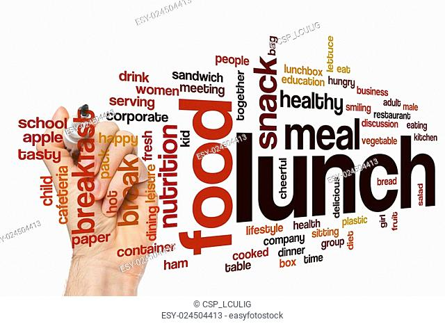 Lunch word cloud concept