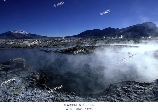 Salar, de, Surire, Altiplano, Chile, Patagonia