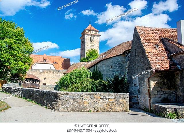 Rothenburg ob der Tauber is a town in the district of Ansbach of Mittelfranken (Middle Franconia), the Franconia region of Bavaria, Germany