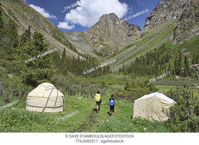 Yurt camp in the Tian Shan Mountains, Karakol, Kygyzstan