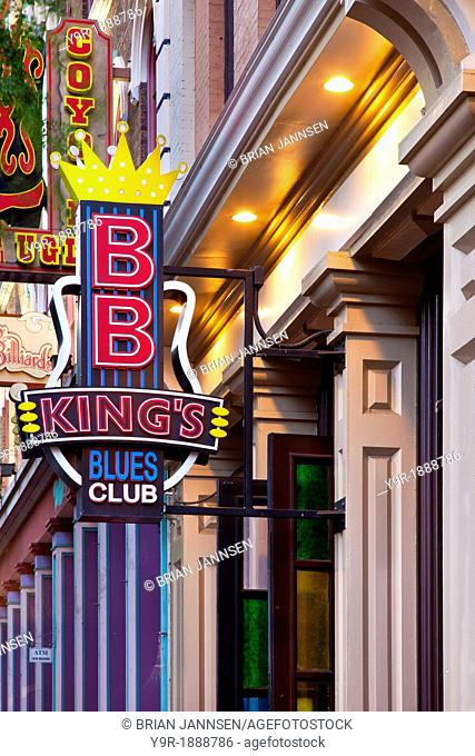 BB King's famous Blues Club along 2nd Avenue in downtown Nashville Tennessee USA
