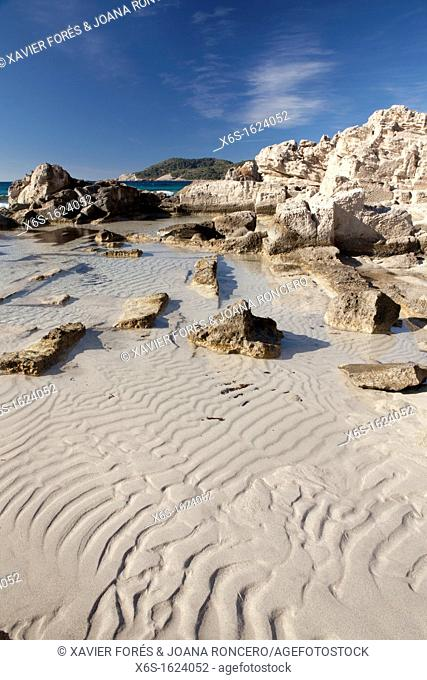 Natural park of Ses Salines in Sant Francesc de S'Estany, Ibiza, Illes Balears, Spain