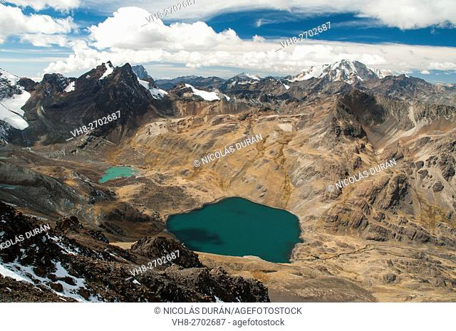 Cordille Real from Austria peak. Bolivia. South America