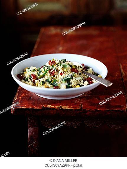 Couscous salad in bowl