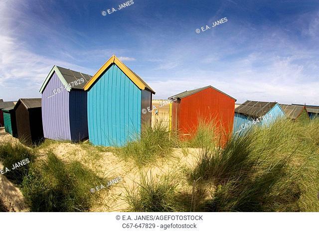 Beach Huts Wells North Norfolk August