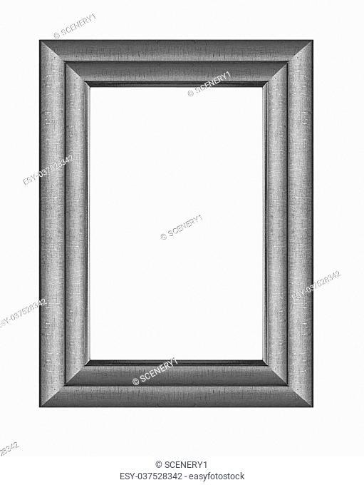 frame Black wood frame in white background