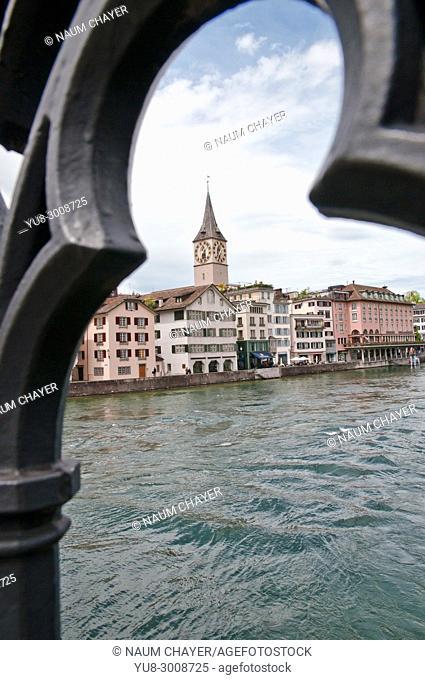 Zurich waterfront , Switzerland, federal republic, Western Europe