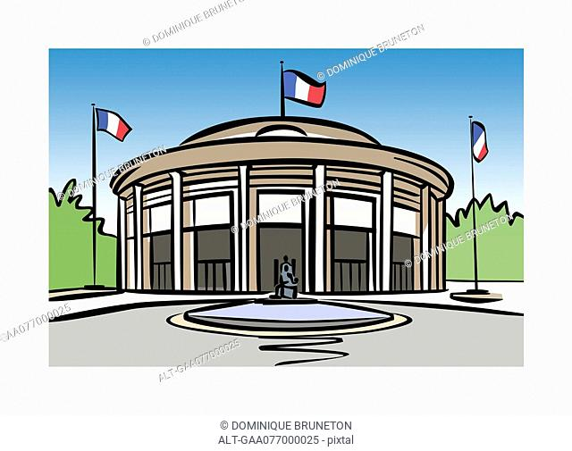 Illustration of the Economic, Social and Environmental Council of France