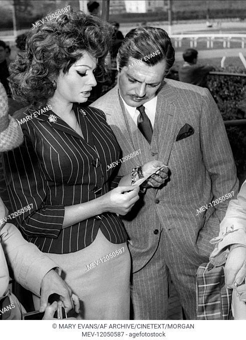 Sophia Loren & Marcello Mastroianni Actress, Actor During Filming Of 'Marriage Italian Style' (Matrimonio All'Italiana, It/Fr 1964)