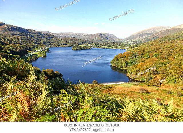 Grasmere lake in the English Lake District National Park, Cumbria, England, UK