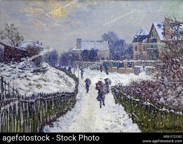 Boulevard Saint Denis, Argenteuil, in Winter, Claude Monet, 1875,