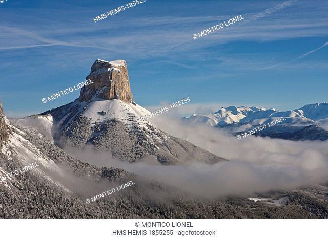 France, Isere, Parc Naturel Regional du Vercors (Vercors Natural Regional Park), the Mont Aiguille (2086 m)