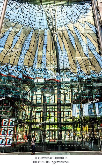 Sony Center, interior, Potsdamer Platz, Berlin, Germany