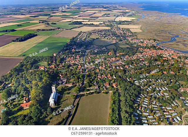 Blakeney village Norfolk from the air