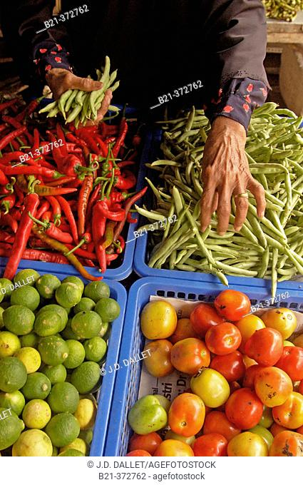 Malaysia. Langkawi. Vegetable and strong peppers