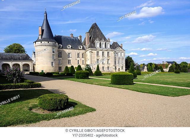 Castle of Azay le Ferron, Indre-et-Loire, Loire Valley, Centre, France