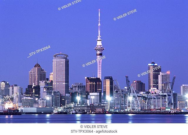 Auckland, City, Holiday, Landmark, New zealand, Night, North island, Skyline, Tourism, Travel, Vacation, View