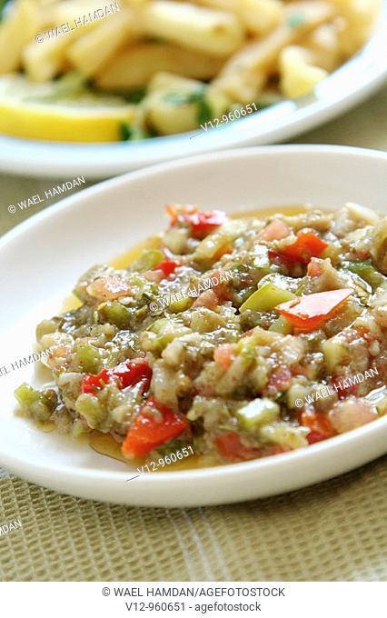 Baba Ganouj - appetizer made of roasted Aubergines