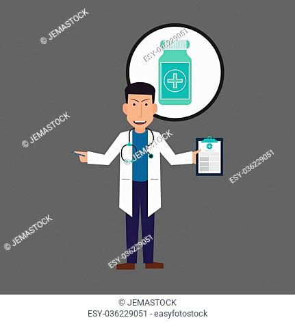 Doctor concept with icon design, vector illustration 10 eps graphic