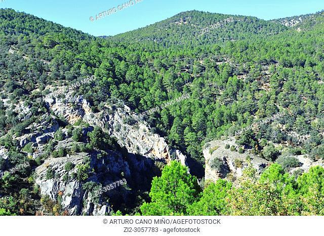 The Alto Tajo Natural Park. Zaorejas town, Guadalajara province, Spain