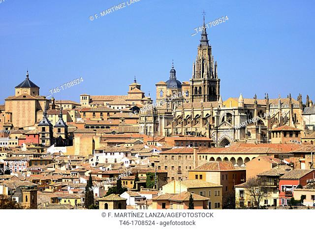 Overview of Toledo with the Gothic cathedral