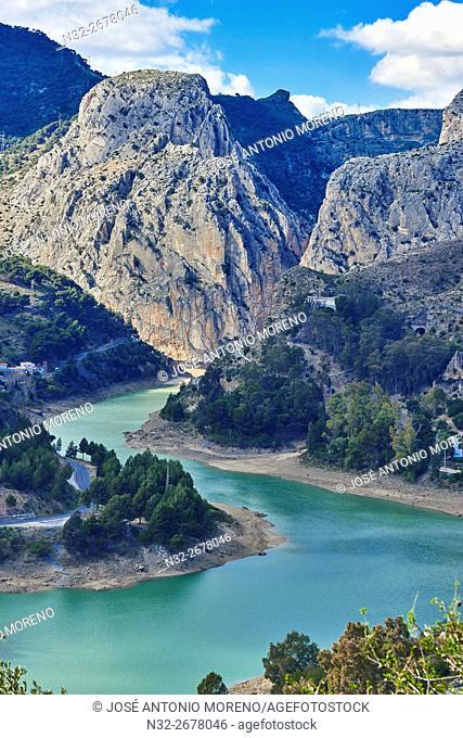 Desfiladero de lo Gaitanes. The Kings Pathway, Caminito del rey, El Chorro Gorges, Ardales, Malaga Province, Andalusia, Spain