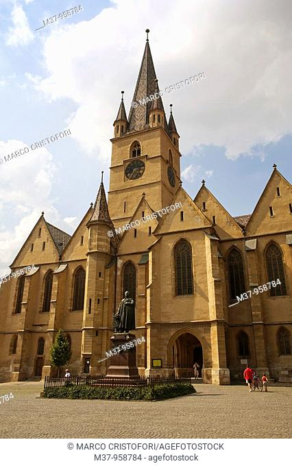 Evangelical church  Sibiu  Transylvania  Romania