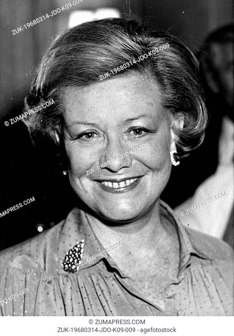 Mar 14, 1968; Paris, France; Duchess NICOLE RUSSELL BEDFORD. (Credit Image: © Keystone Press Agency/Keystone USA via ZUMAPRESS.com)