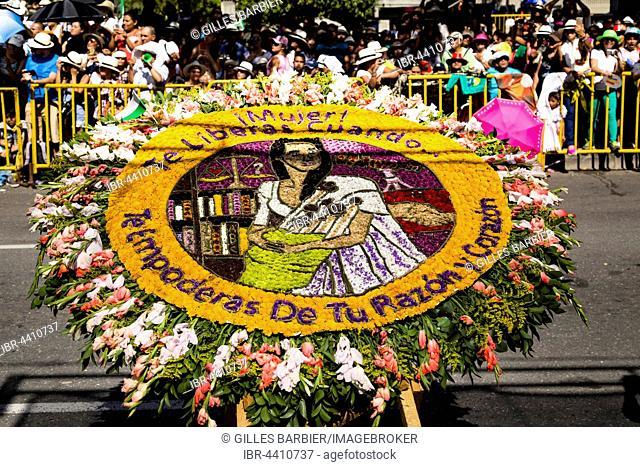 Silleta, Flower Composition, Flower Parade, Desfile de Silleteros, 59th Flower Festival, Feria de las Flores, Medellín, Antioquia, Colombia