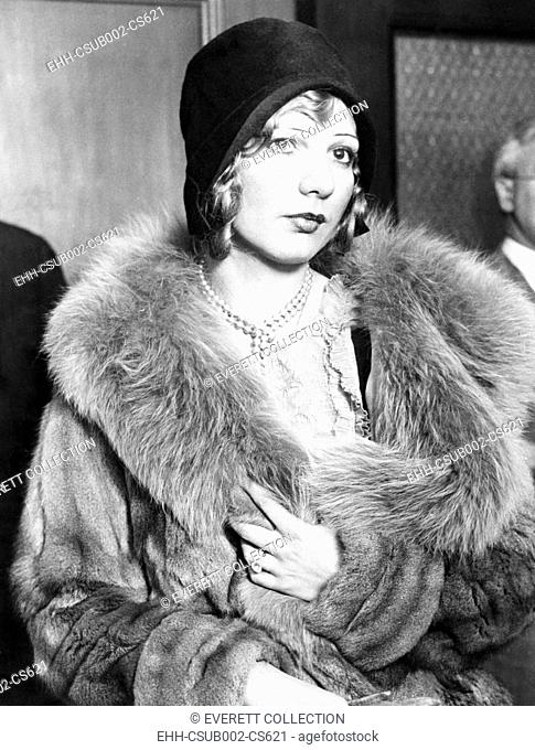 Actress Louise Rolfe McGurn sentenced to four month for conspiracy to violate the Mann Act. July 21, 1931. The charged was based on their co-habitation in 1928...