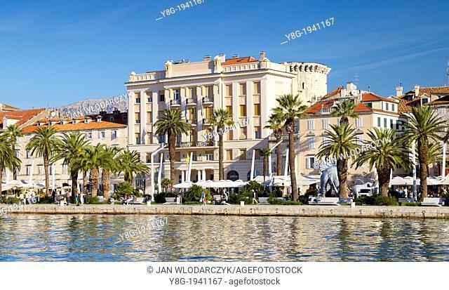 Croatia - Split, view from sea of the Old Town, Dalmatia, Croatia, UNESCO