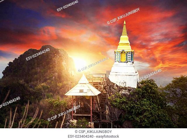 unseen wat pra bath pu pha dang temple of Lampang Province, northern Thailand