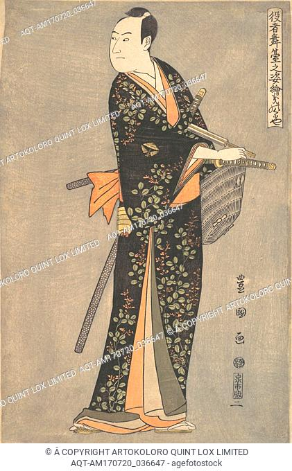 The Actor Sawamura Sōjūrō 3rd (Kinokuniya) from the series Portraits of Actors on Stage (Yakusha butai no sugata-e), Edo period (1615–1868), ca